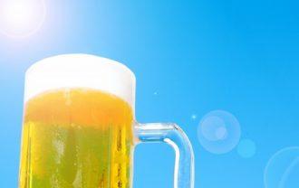 真夏のビール