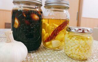 にんにく醤油とガーリックオイル